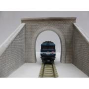 Entrée de tunnel voie unique