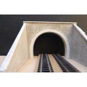 Two tracks tunnel portal