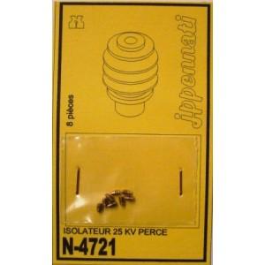 8 isolateurs 25 kv percés