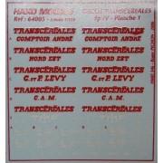 Planches Transcéréales N°1