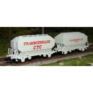 Set 2 wagons céréaliers TRANSCEREALES CTC époque IV