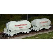 Set 2 wagons céréaliers TRANSCEREALES STEMI époque IV