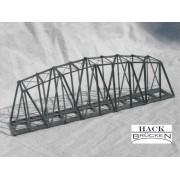 Single track metal truss bridge 18 cm