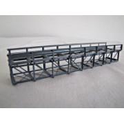 Single track inferior deck metal bridge 15 cm