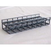 Double track inferior deck metal bridge 15 cm