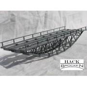 Double track inferior deck metal bridge 24 cm
