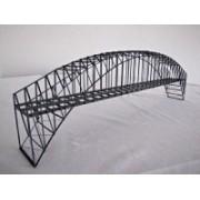 Double track hanged truss bridge