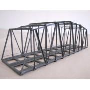 Double tracks metal truss bridge 18 cm