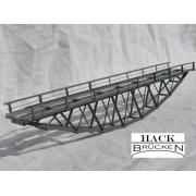 Single track inferior deck metal bridge 24 cm green