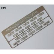 Jeu N°2 de plaques CC 72000
