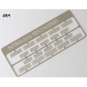 Jeu N°3 de plaques A1A A1A 68000