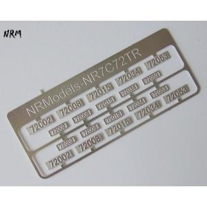 Jeu N°1 de plaques CC 72000