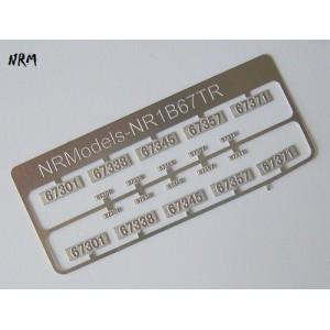 Jeu N°2 de plaques BB 67300