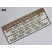 Jeu N°1 de plaques A1A A1A 68000