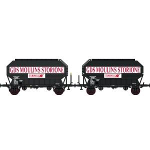 Set 2 wagons céréaliers Frangeco STORIONE