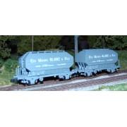 Set 2 wagons céréaliers Frangeco MICHEL BLANC