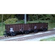 Set of 2 OCEM 29 brown metal dump wagons
