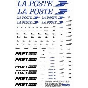 LA POSTE, FRET and white casquette logos