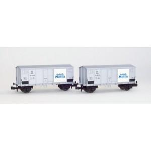 Set of 2 FS refrigered wagons Gelati Motta