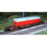 Wagon plat OBB container Rail Cargo Austria