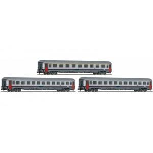 Set of 3 SNCB Eurofima coaches Eurocity