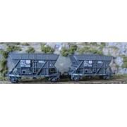 Set of 2 coal hopper wagons ARBEL