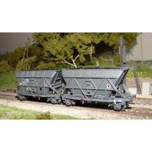 Couplage de wagons trémie houiller SOGEWAG