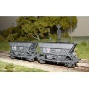 Set of 2 coal hopper wagons EDF