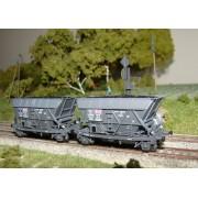 Set of 2 coal hopper wagons Forges et Acieries du Nord Est
