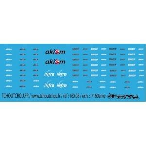 Planche de logos AKIEM et SNCF