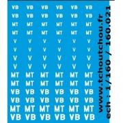 Planche de marquages V, VB et MT