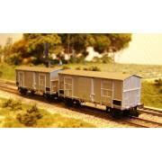 Set 2 wagons couverts FS alu ep IV