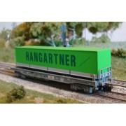 Wagon plat HUPAC + remorque HANGARTNER