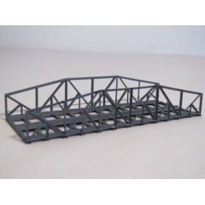 Pont métallique double voies 15 cm