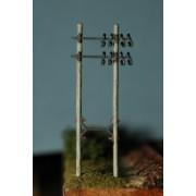 SEt of 2 telegraph poles