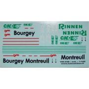 Planche Bourgey Montreuil, Rinnen et CNC