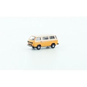 Minibus VW T3 orange et blanc