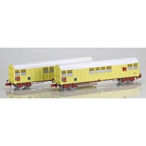 Set 2 wagons couverts Gakkss 11-6 SNCF