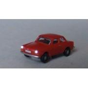 VW 1600 limousine rouge éclairée