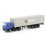 Tracteur MAN F90 + semi-remorque container MOL