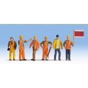 Jeu de 6 ouvriers de voie