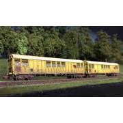 Set 2 wagons Gakkss 11-6 SNCF vieillis