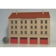 Grande caserne de pompiers fond de décor