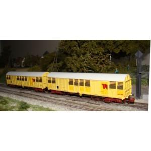 Set de 2 wagons Gakkss 14-6 SNCF délavés