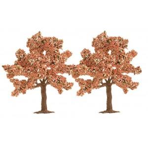 Jeu de 2 arbres fruitiers en fleurs