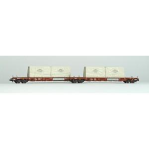 Set de 2 wagons transport de verre SBB