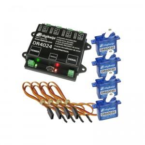 Ensemble complet décodeur avec 4 mini-servos