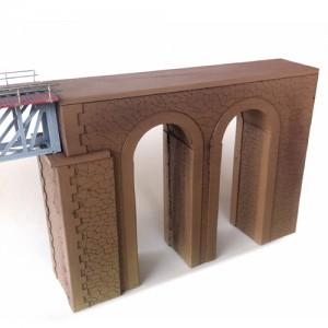 Extrémité de pont unique à 2 arches