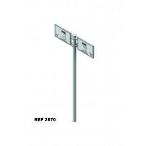 Set of 2 platform sign-indicatives