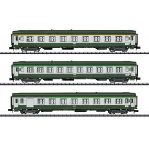 Set of 3 SNCF UIC coaches era IVb